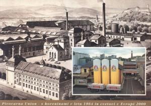 Razglednica pivovarne Union, izdana ob 130 letnici pivovarne